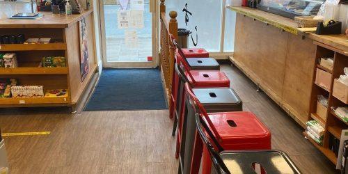 Inside the shop/entrance area