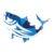 Fresh Fish Icon Blue